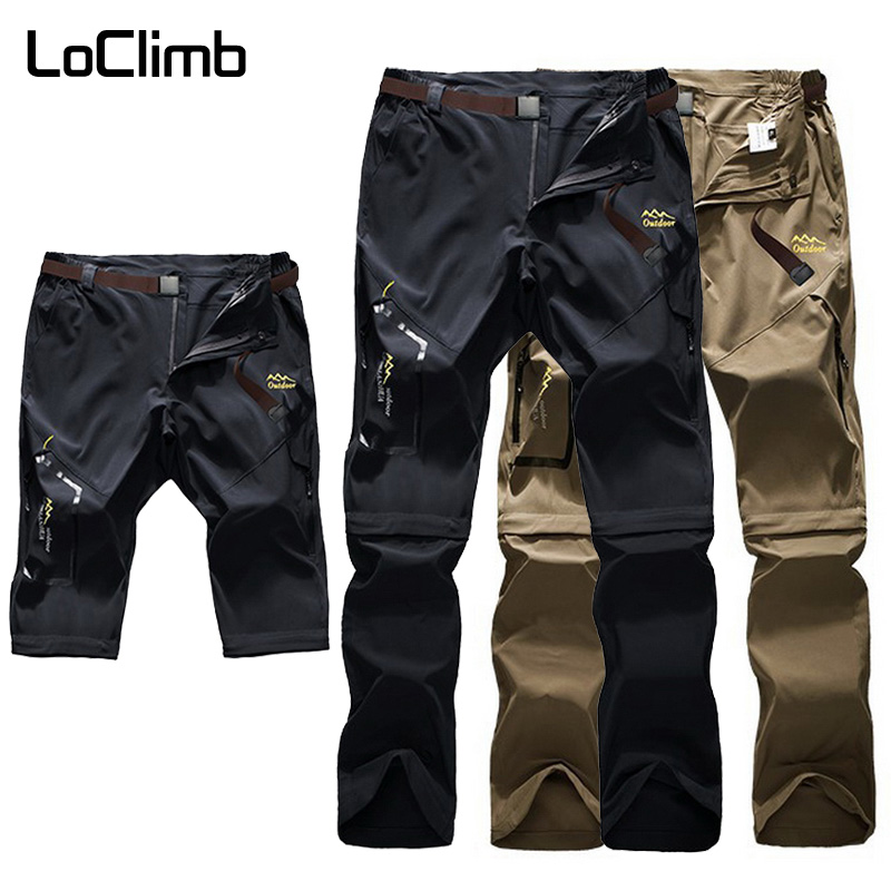 LoClimb Outdoor Hiking Pants <font><b>Men</b></font>/<font><b>Women</b></font> Stretch/Quick Dry/Waterproof Trousers Mountain/Trekking Pants <font><b>Men's</b></font> <font><b>Sports</b></font> <font><b>Shorts</b></font> AM051 image