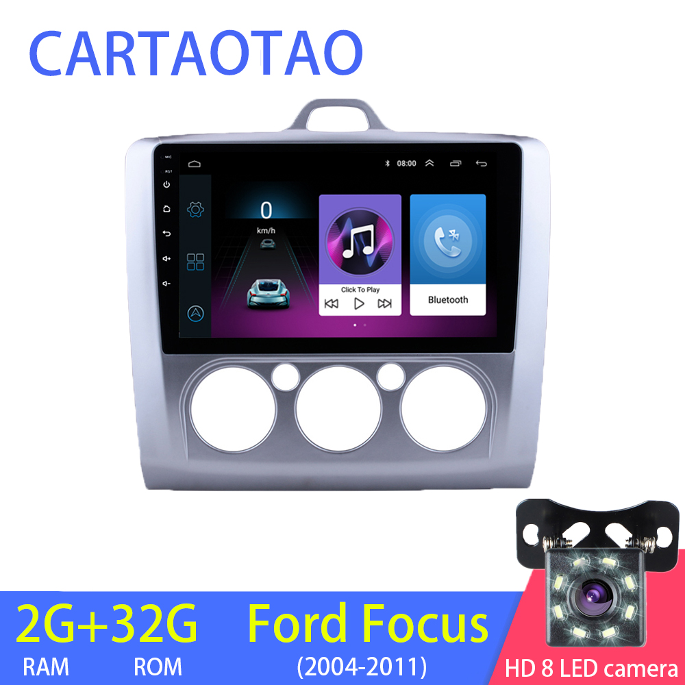 2G 32G 2DIN Android 8 1 Car Radio Multimedia Player for Ford Focus EXI MT MK2