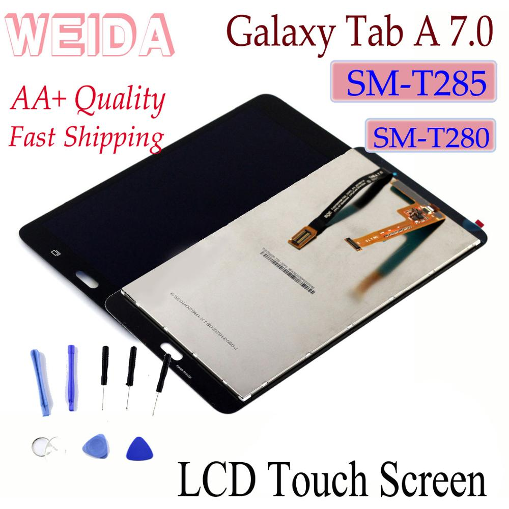 """WEIDA LCD Replacment 7"""" For Samsung Galaxy Tab A 7.0 (2016) SM-T280 SM-T285 LCD Display Touch Screen Assembly T280 WIFI /T285 3G"""