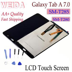 """WEIDA LCD Replacment 7"""" For Samsung Galaxy Tab A 7.0 (2016) SM-T280 SM-T285 LCD Display Touch Screen Assembly T280 WIFI /T285 3G(China)"""