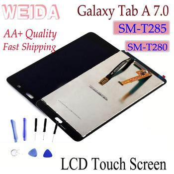 WEIDA LCD Replacment 7 For Samsung Galaxy Tab A 7.0 (2016) SM-T280 SM-T285 LCD Display Touch Screen Assembly T280 WIFI /T285 3G for samsung galaxy tab a 7 0 t280 sm t280 t280n t285 high quality ultra slim silk 3 fold transparent cover stand pu leather case