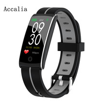 ACCALIA F10 + Фитнес, измеритель артериального Давление сердечного ритма Водонепроницаемый Смарт Браслет спортивный смарт-браслет IP68 для IOS и Android