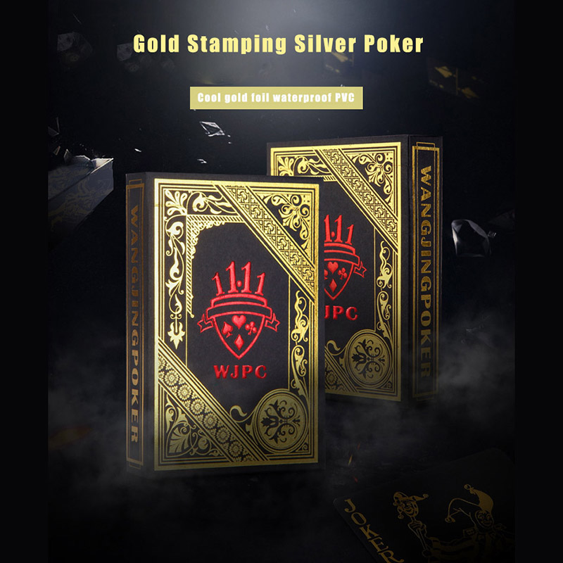 Black GOLD STAMPING SILVER PVC Playing Cards Noble and Elegant MAGIC POKER Three Color RED For Choice A Replacement