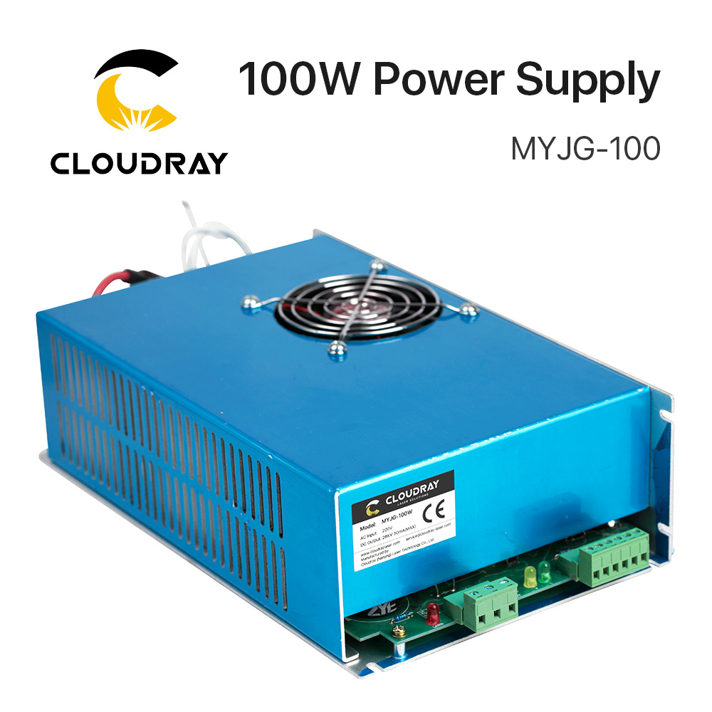Smartrayc 100W CO2 Laser Power Supply for CO2 Laser Engraving Cutting Machine MYJG-100 co2 laser machine laser path size 1200 600mm 1200 800mm