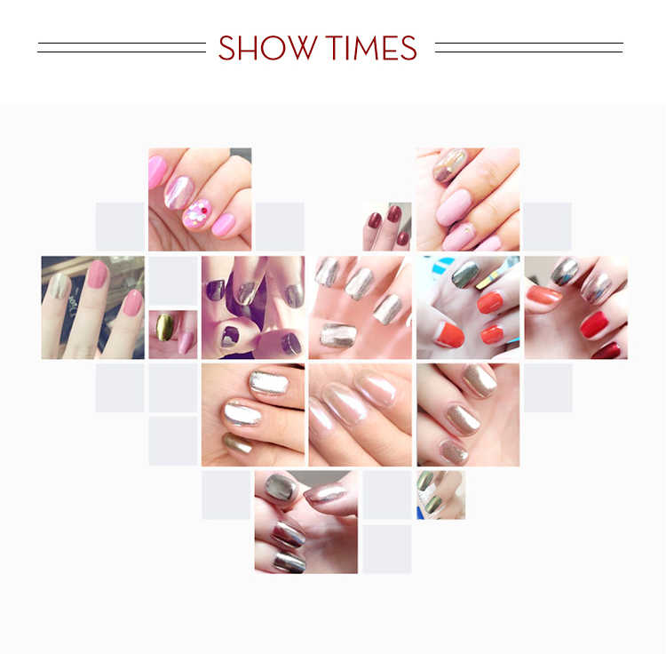 Rosalind Seashell Espejo, uñas con purpurina acrílico brillos en polvo Shell Nail arte en cromo pigmento polvo manicura Decoración