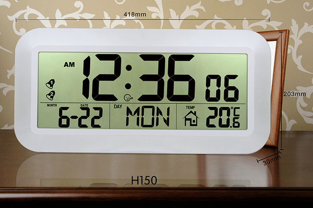 Jimei H150 Simple Digital Wall Clock Large Display With Alarm Snooze