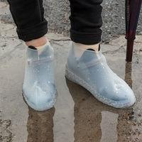 Silicone impermeável ao ar livre capa de sapato à prova de chuva caminhadas skid-proof tampas de sapato