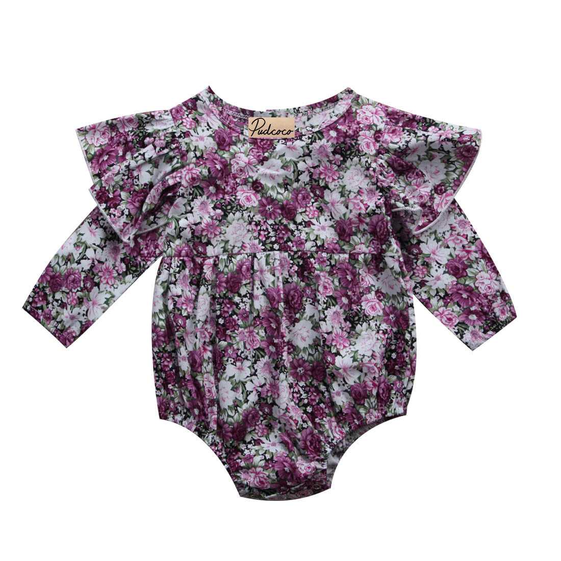 One-Pieces 0-24M Newborn Baby Girls Infant Kids Clothes Lace Floral Long Sleeve Newest Bodysuit Outfits