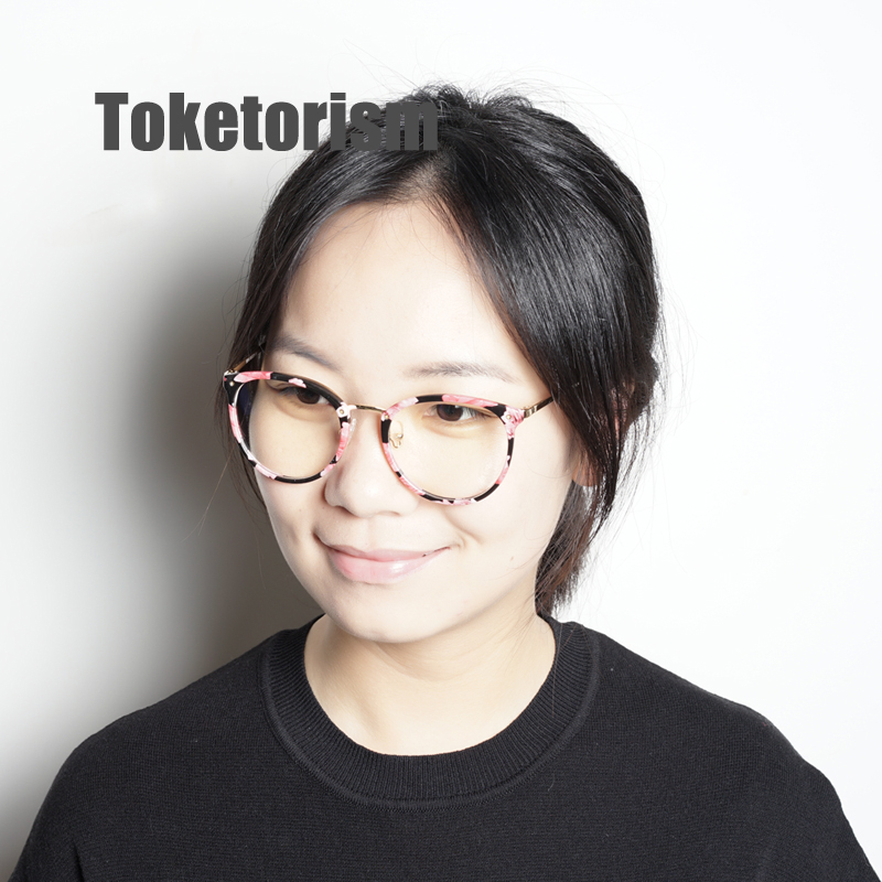 a76c424387 Toketorism 2019 tr90 gold glasses frame vintage women men eyes glasses  miopia diopter optical frames -in Eyewear Frames from Apparel Accessories  on ...
