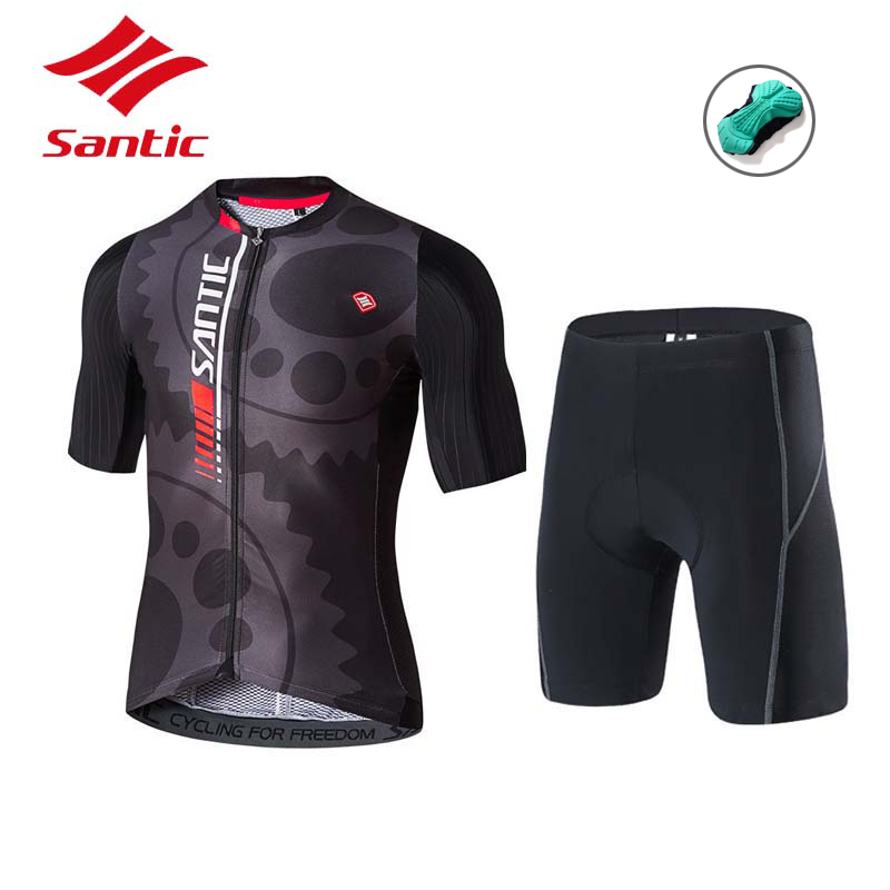 55980a3b8 Santic Cycling Clothing Men Cycling Jersey Set with Pad Summer Breathable  Bike Jersey Suit 2018 Pro