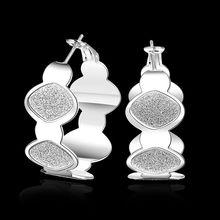 Estilo del verano fine silver plated pendientes 925-sterling-silver belleza de la joyería de los pendientes del aro para para SE467
