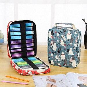 Image 4 - Estojo escolar kawaii, bolsa colorida de lápis para meninos e meninas, 150/168/216 furos bolsa da caixa