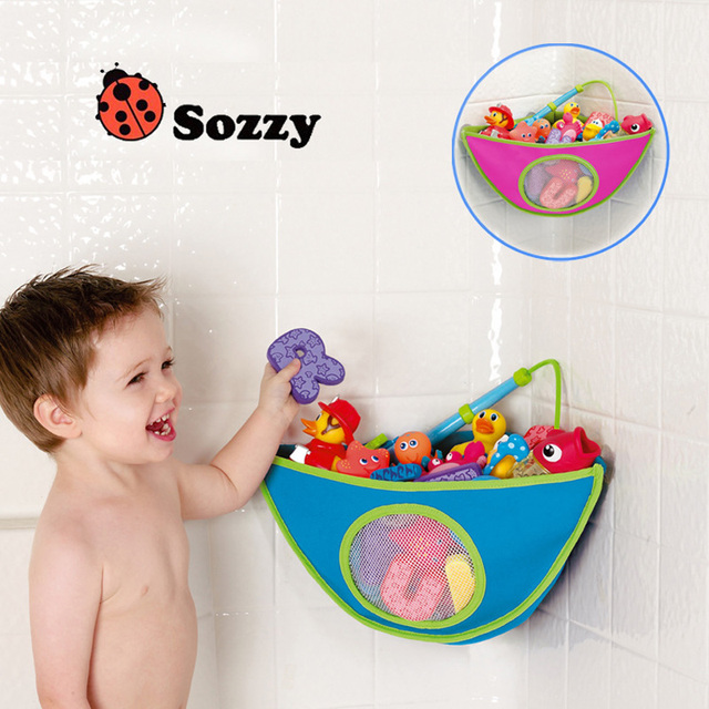 À prova d ' água bebê crianças Bath Toy banheiro organizador saco de armazenamento de brinquedos organizadores