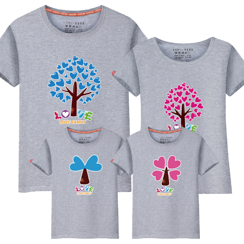 1pcs Cartoon The Giving Tree Print Women Men Children Boy Girl Tshirt Family Matching Outfits Mother Father Son Daughter 9 Color