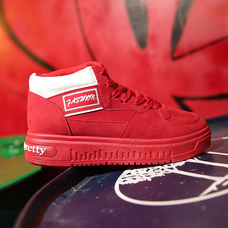 Casual Women Shoes Lace Up Breathable Platform High Top Casual Shoes KUYUPP 2016 Spring Autumn Fashion Lace Up Skate Shoes YD158 (19)