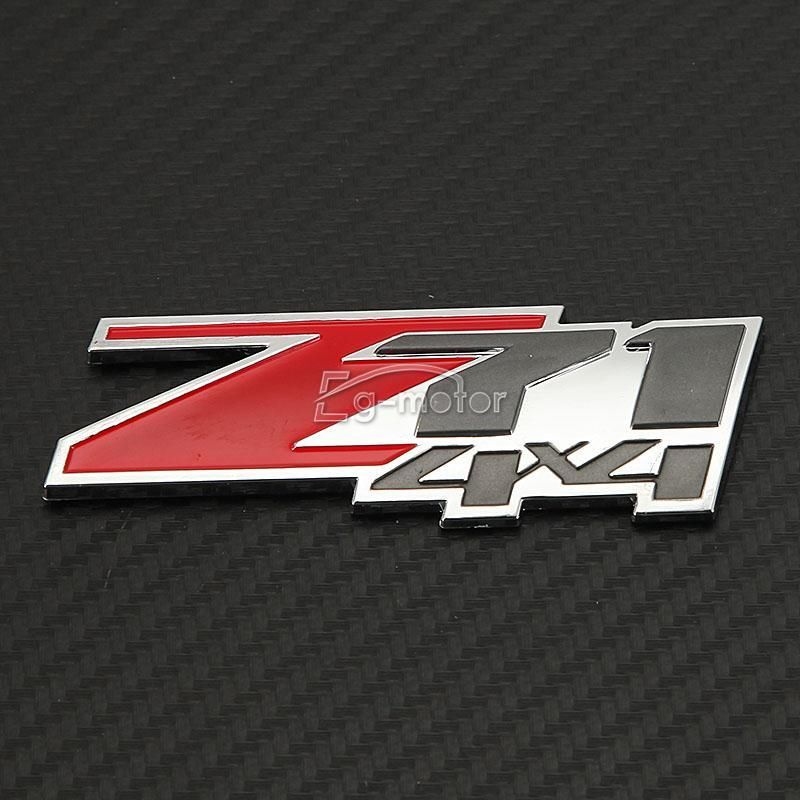 빨간 아 BS Z71 4x4 상징 기장은 Chevrolet Silverado 1500 / GMC - 외부 자동차 액세서리 - 사진 4