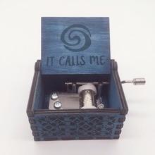Музыкальная шкатулка Moana IT crests ME, деревянная ручка, остров принцессы березы, музыкальные коробки, фигурки, игрушки, caja de musica