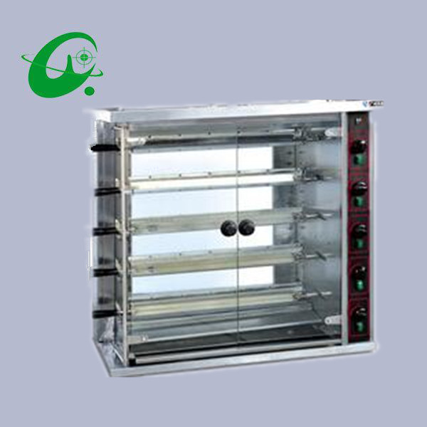 Commercial 5 layers gas chicken grill 25 chickens Pigeons and Duck gas rotisseries rock Rotisserie oven