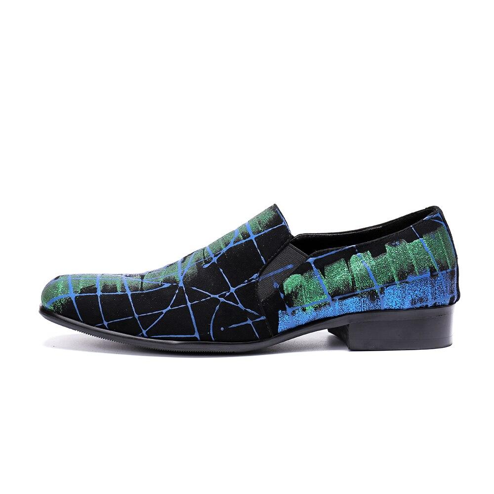 Impresión Casual Estilo Cuero En Zapatillas Holgazanes Británico Deslizamiento Ante Del Hombres Christia Bella Hombre Fumar Zapatos De Azul Partido 5wq8ZEOx