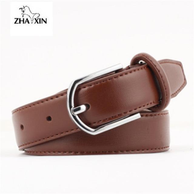 e93fce6a0 Nova Moda cintos de couro Genuíno para as mulheres de Alta qualidade Pin  fivela de cinto