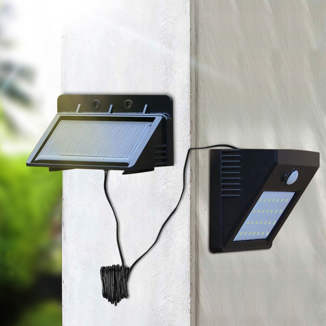 LED Outdoor Wall Light Motion Sensor Solar LED Lamp Verlichting ...