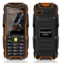 Original vkworld piedra v3 ip67 impermeable del teléfono móvil 5200 mah batería dual sim mp3 fm teclado ruso teléfonos celulares a prueba de golpes