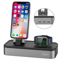 For Apple Watch Stand 3 In 1 Charger Dock 3 Port USB Power Charging Station Charger