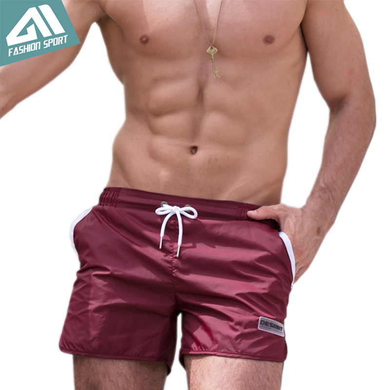 New Quick Dry Mens Swim Shorts Summer Mens Board Shorts Surf Swimwear Beach Short Male Athletic Running Gym Short DT81