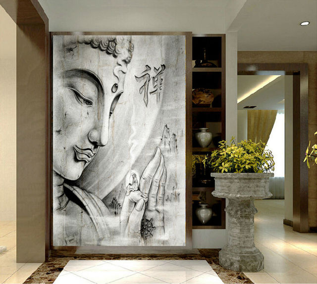 HD Print White Religion Buddha Painting On Canvas Wall Art Print Home Decor  Wall Art Picture