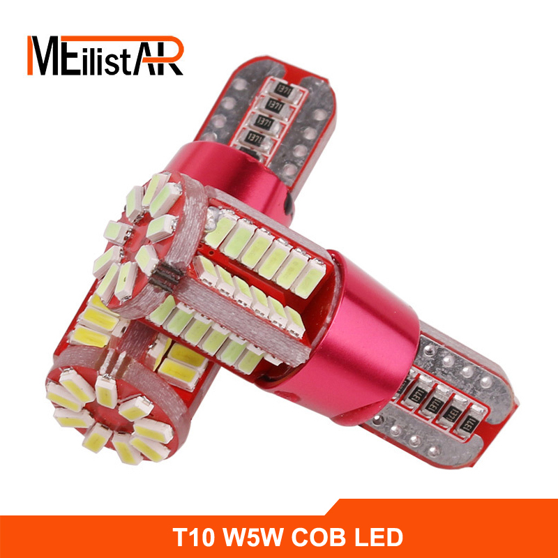 1pcs T10 57 SMD 4014 LED Canbus Error Free auto Clearance Light W5W WY5W 194 192 2825 Car Wedge Tail Side Bulb reading lamp 12V 10pcs super bright led lamp t10 w5w 194 6smd 4014 error free canbus interior bulb white for car dc 12v free shipping new