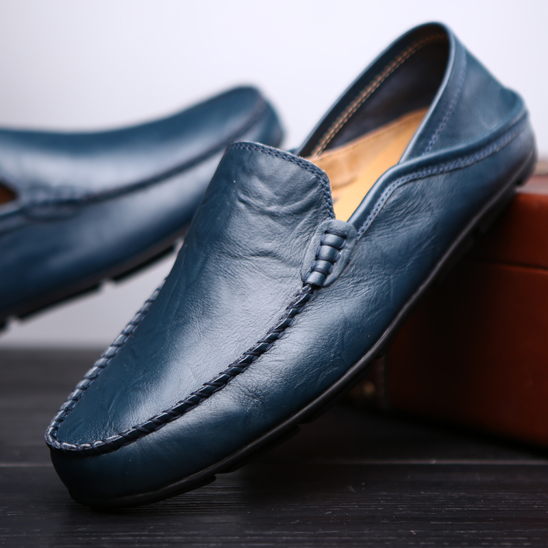 Valstone hollowed Casual leather shoes Men Slip-on loafers Summer - Men's Shoes - Photo 5