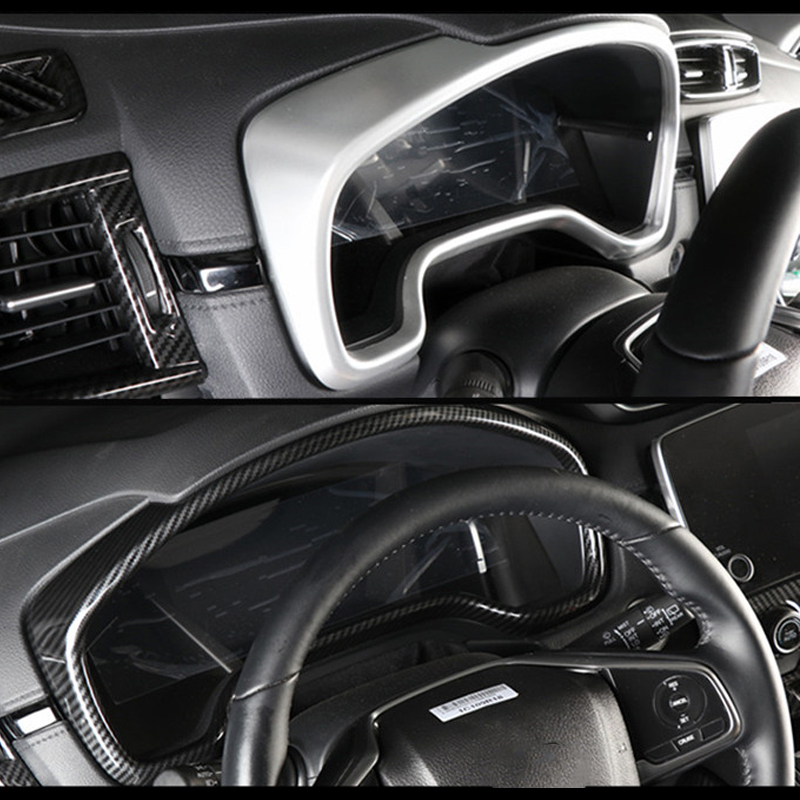 ABS Chrome  interior meter dashboard cover trim For Kia Sportage 2017 2018
