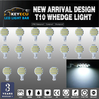KEYECU 20PCS T10 921 194 Wedge 24 3528 SMD LED Bulbs Super Bright Cool White DC12V