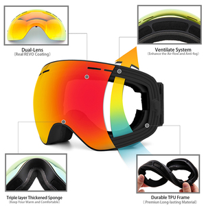 Image 3 - Ski Goggles,Winter Snow Sports Goggles with Anti fog UV Protection for Men Women Youth Interchangeable Lens   Premium Goggles