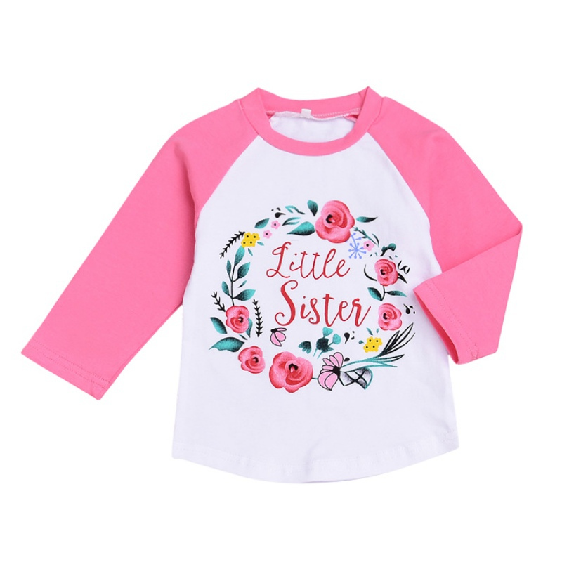 T-Shirt Floral-Print Kids Sleeveless for Dressing with Long Making Your Cute Beautiful
