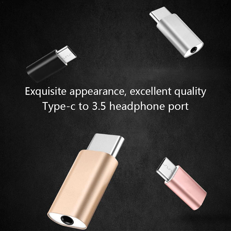 Type C To 3.5mm Headphone Jack Adapter For Android Mobile Phone Type-c 3.5mm AUX Adapter Smartphone Converter Audio Splitter