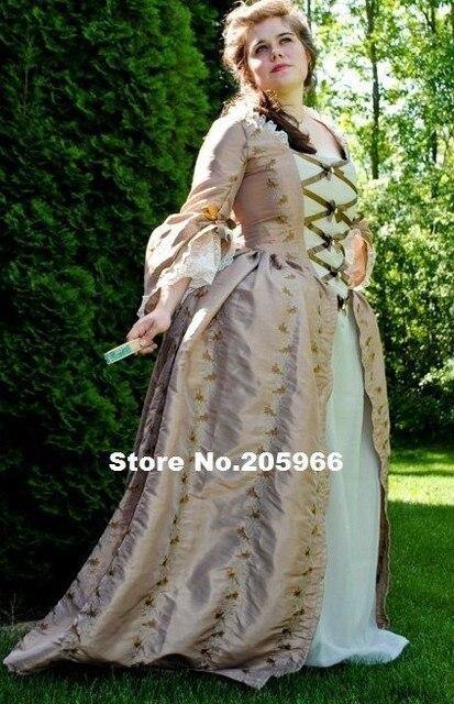 Nach Maß Kolonial. Jahrhundert Rokoko Kleid Kleid 1700 s Marie ...