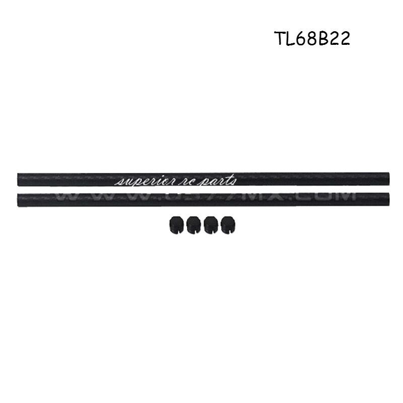 2pcs Glossy 20mm OD x 16mm ID x 1000mm 3K Roll Carbon Fiber Tube Rod Quadcopter