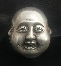 Chiński z brązu rzeźba 4 twarz budda szczęśliwy zły smutny przyjemność głowa popiersie tanie tanio NoEnName_Null CHINA Maskotka Miedzi