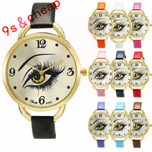 Womens Ladies Eye Pattern Leather Quartz Wrist Watch #3361 Brand New High Quality Luxury Free Shipping