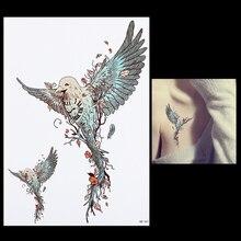 1 Sheet Flying Eagle Tattoo Waterproof DIY Decal HB461 Beauty Women Men Body Back Leg Art Flower Temporary Tattoo Sticker Design