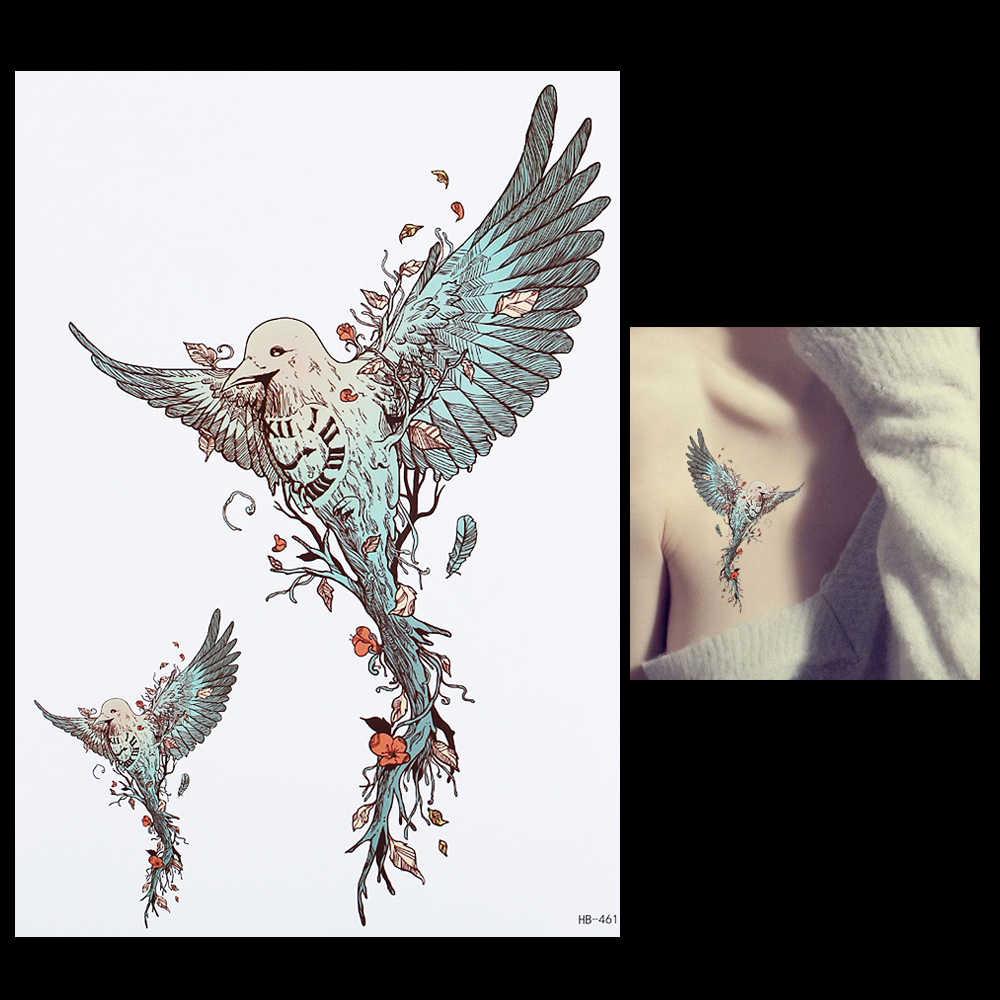 Aguila En La Espalda 1 hoja de tatuaje Águila en vuelo a prueba de agua diy