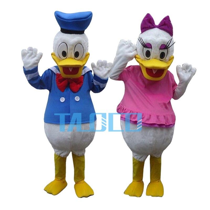 Meilleure Qualité Donald Duck & Daisy 2 pcs Costume De Mascotte Livraison Gratuite