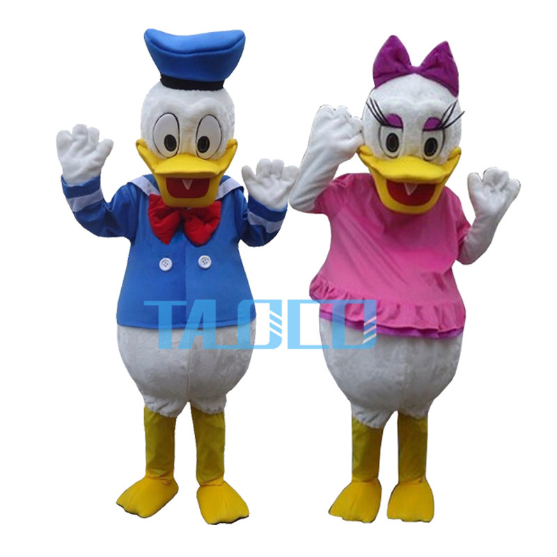 Meilleure qualité Donald canard et marguerite canard 2 pièces dessin animé mascotte Costume livraison gratuite