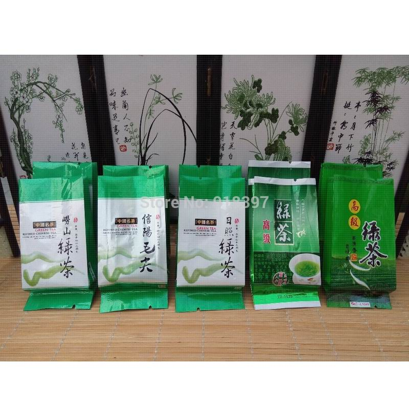 5 Different Flavors Green Tea including Xinyang Maojian Laoshan Tea Rizhao Tea Biluochun Maofeng 10 pcs