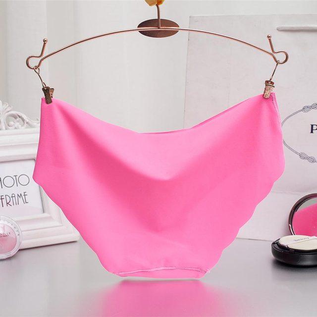 Women Panties Underwear Ultra-thin Viscose Seamless Briefs For Women's Comfort low-Rise Ruffles Sexy Lingerie Summer New Hot 4