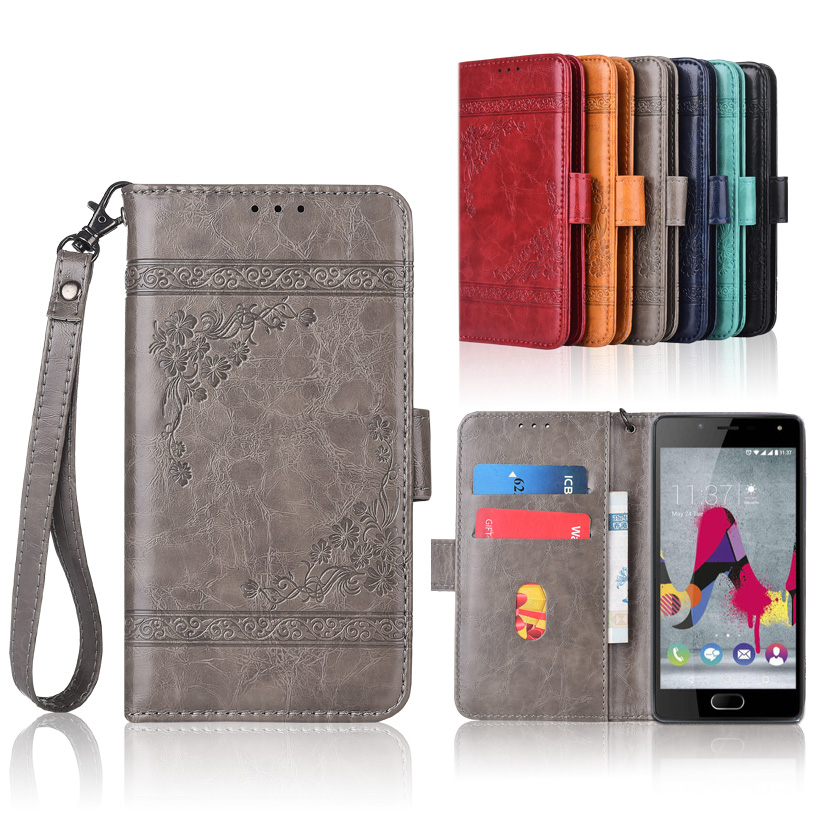 2019 New Style Newest Wallet Case For Wiko U Feel Lite Flip Case With Strap,100% Special Pu Leather Embossing Flower Book Cover Case Good Heat Preservation Wallet Cases