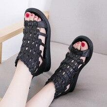 Женские летние туфли из натуральной кожи на низком каблуке женские сандалии летние сапоги 150526