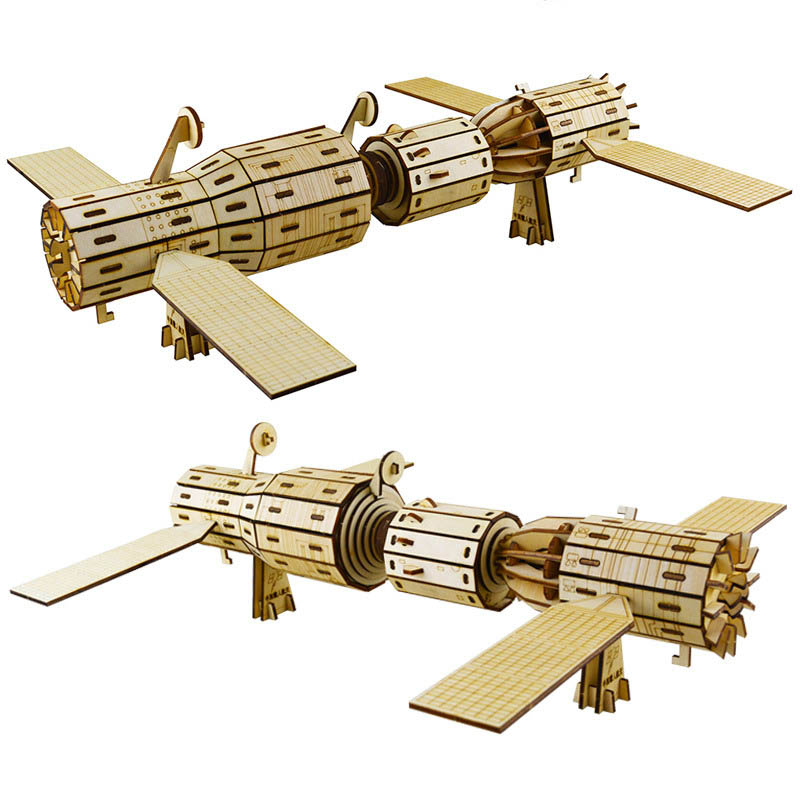 Airship Rocket DIY 3D Wooden Model Building Kits Puzzle Toys Hobbies Gift for Children Adult Assemble Toys Art Home Decoration