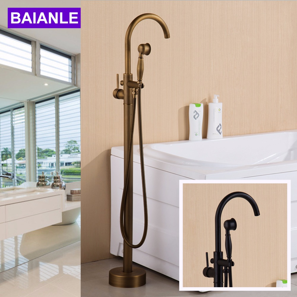 Sitting antique brass hot and cold bathroom freestanding - Bathroom sink faucets separate hot and cold ...